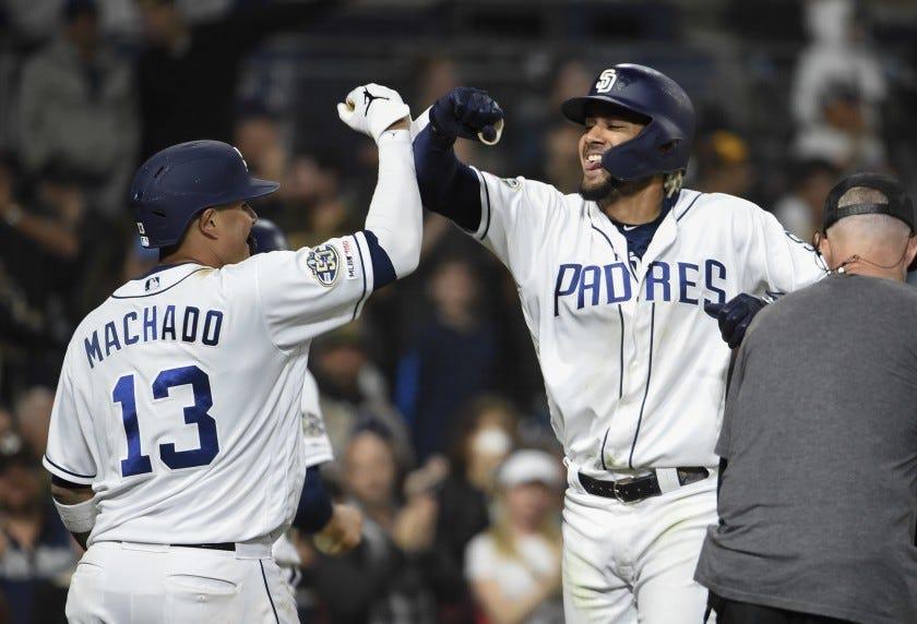 Fernando Tatis Jr. swats first MLB homer; fan happy to return it - The San  Diego Union-Tribune
