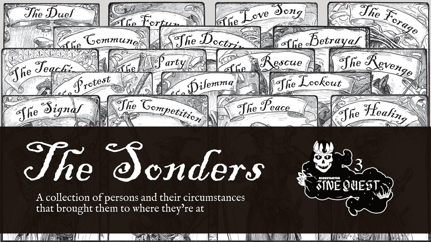 Image of The Sonders Zine Quest page