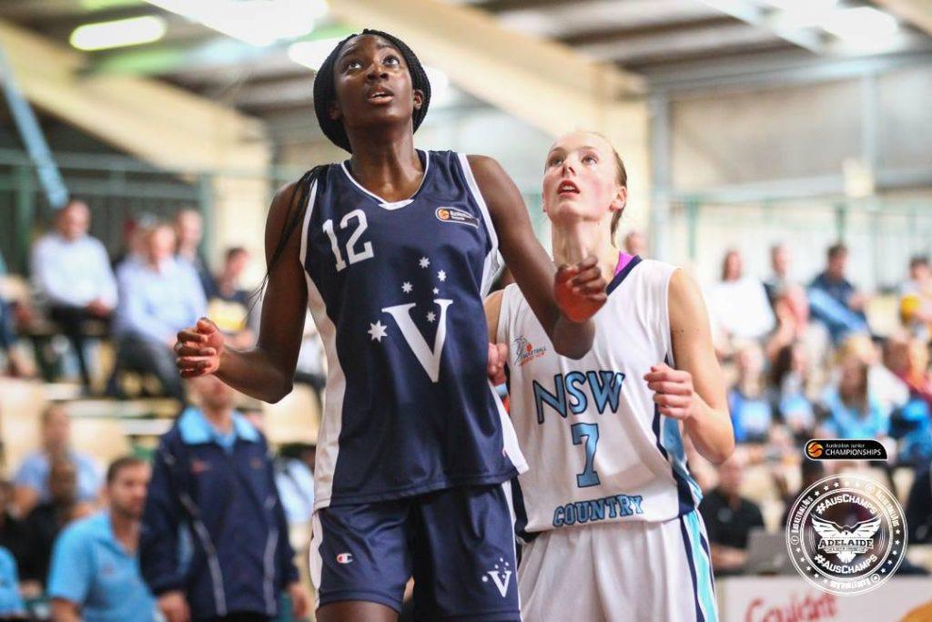 Ezi Magbegor and Jasmine Simmons | Credit: Basketball Australa