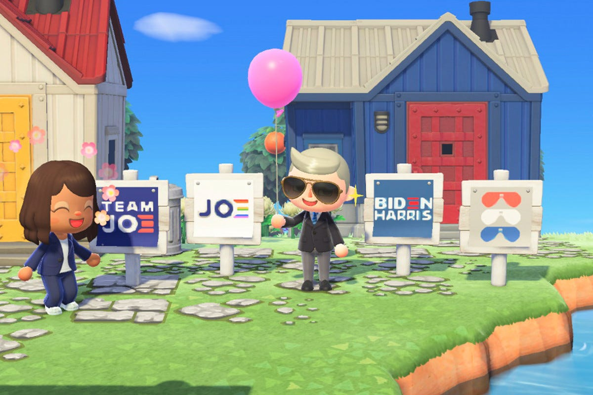 Biden campaign launches official Animal Crossing: New Horizons yard signs -  The Verge