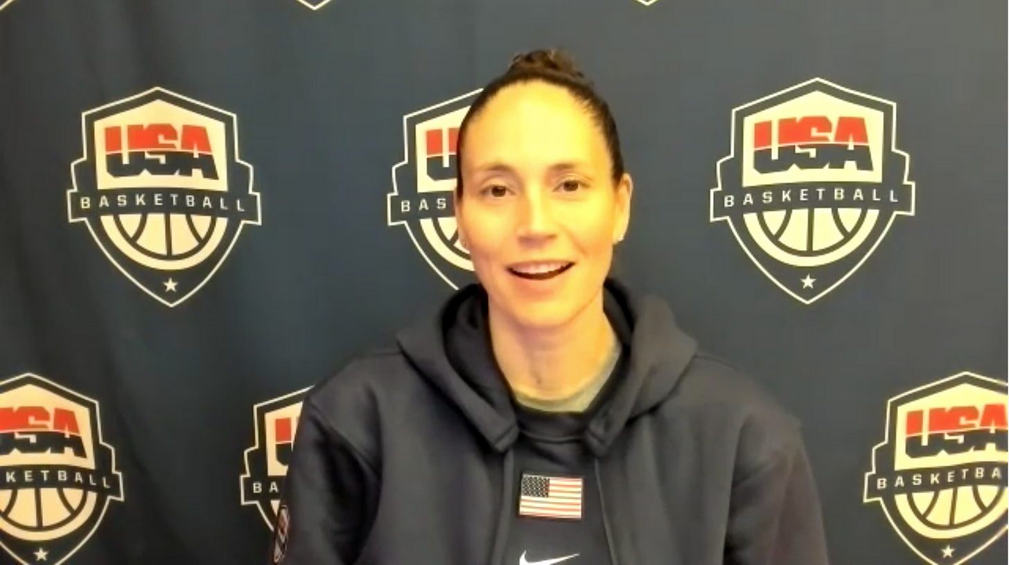 Sue Bird. (Screenshot from USA Basketball avail)