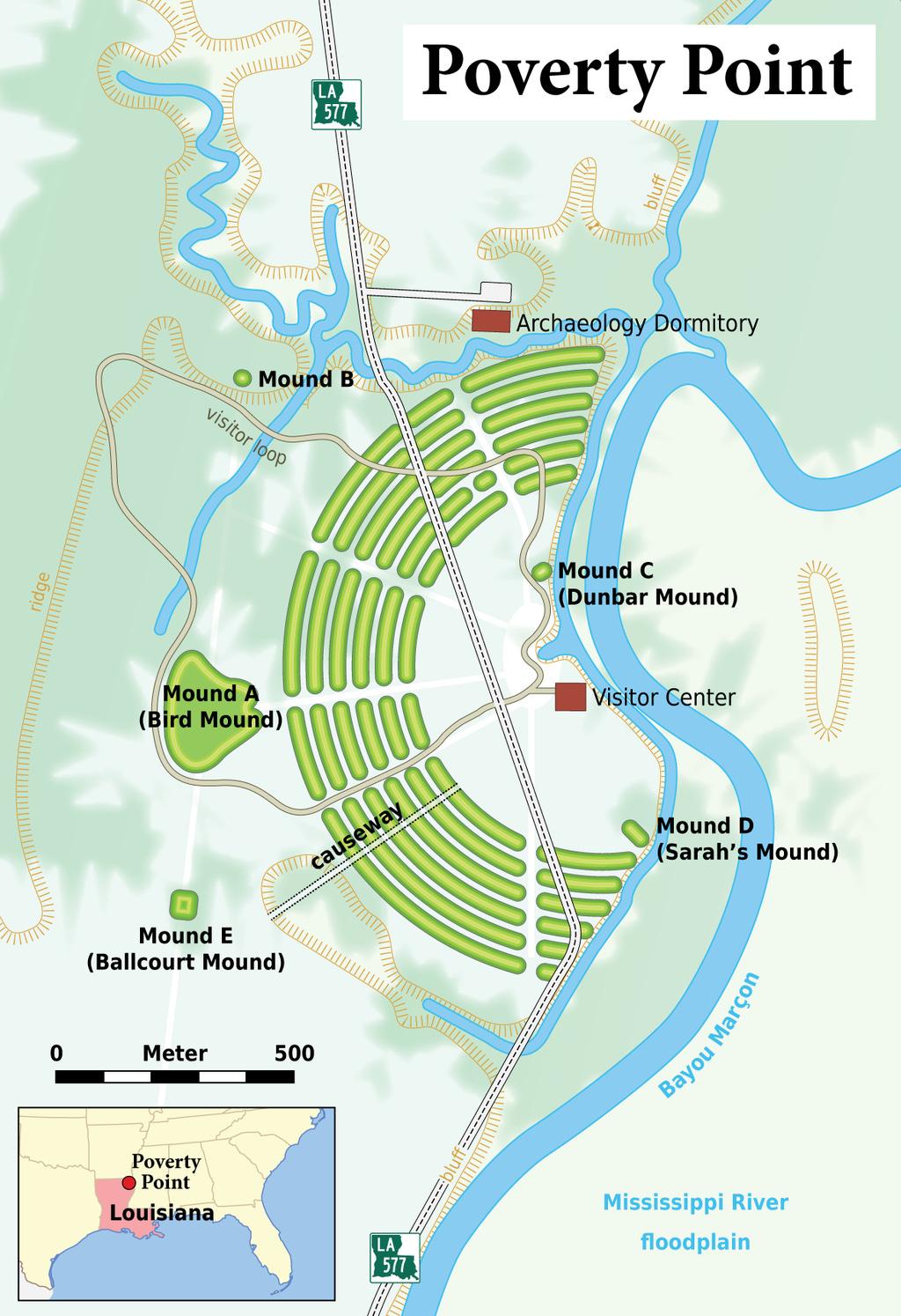 Louisiana - Poverty Point - Karte (English version).png