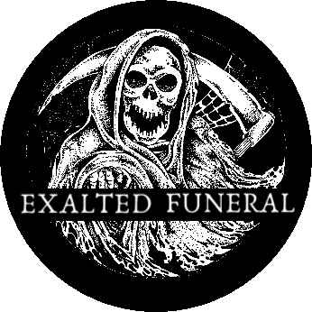 Exalted Funeral link and logo
