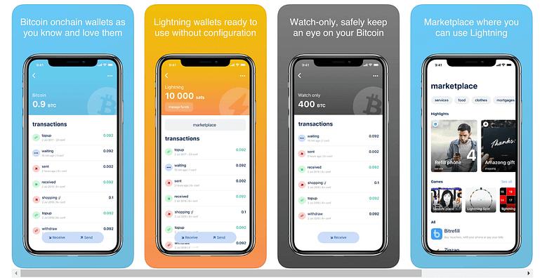 BlueWallet via Apple Store