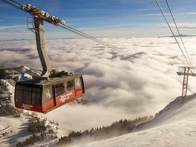 """The tram is the icon of Jackson Hole. """"Big Red"""" as many refer to  it whisks you up over 4… 