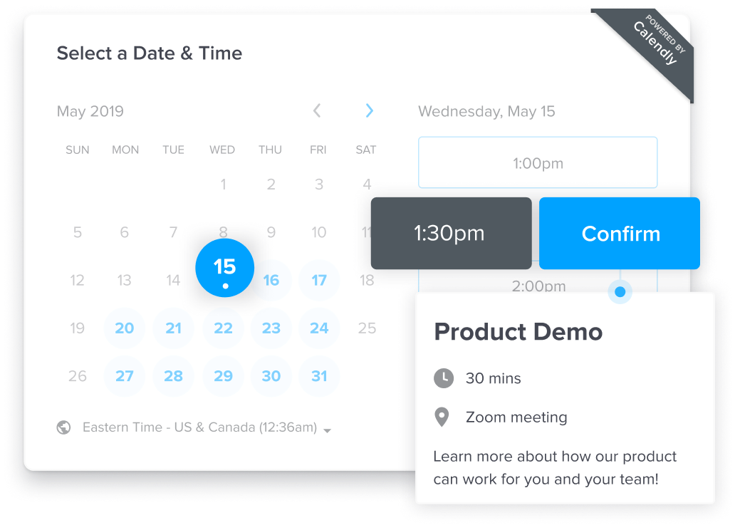 Sales & Marketing Scheduling Tool - Calendly