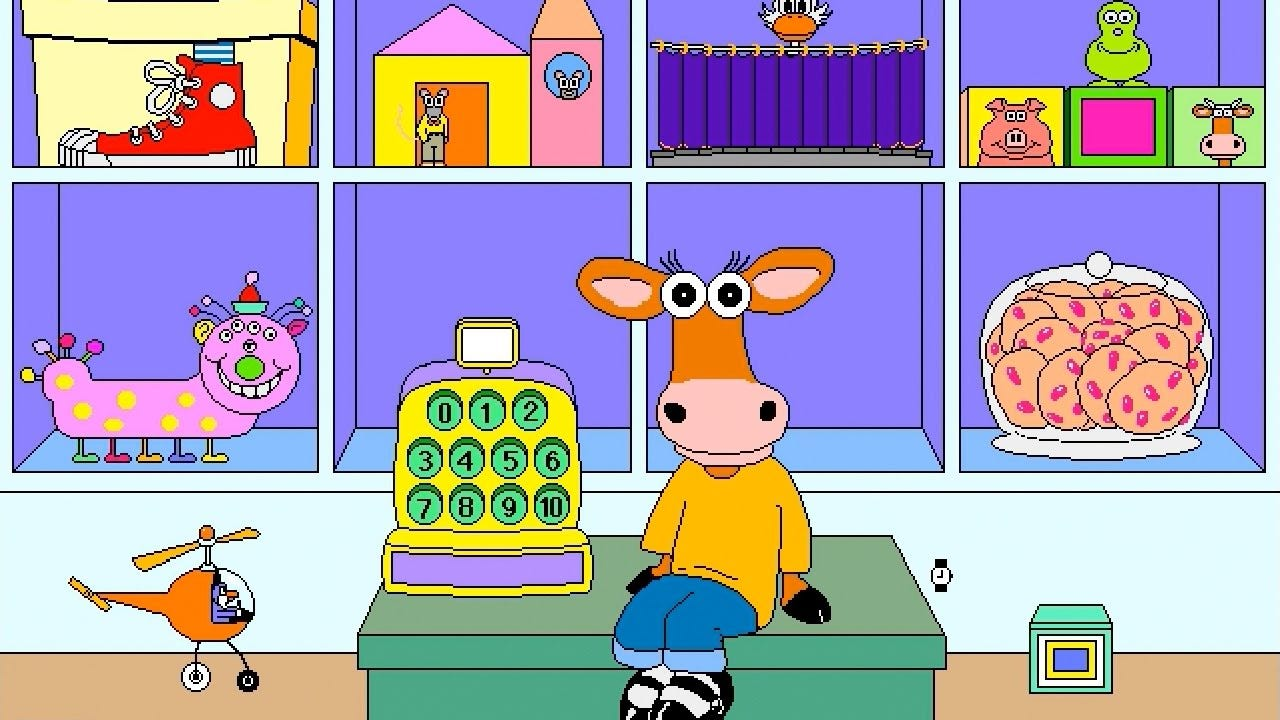 Millie's Math House Gameplay - Old Macintosh Game - YouTube