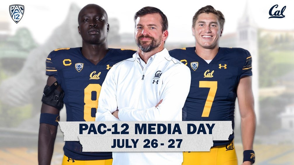 2021-07-26 Deng, Garbers And Wilcox At Pac-12 Football Media Day