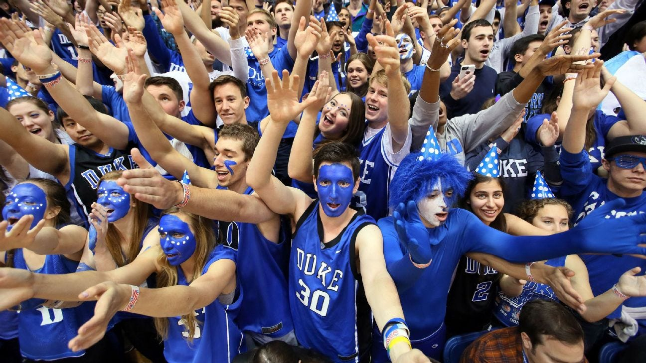 Duke won't have fans for college basketball games due to coronavirus