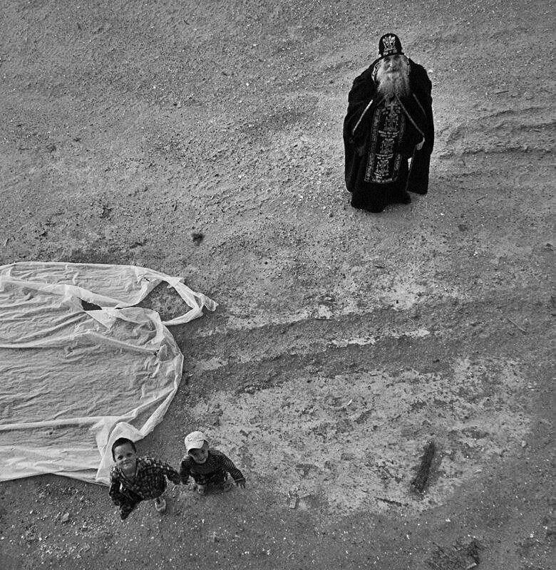 An Orthodox Schemamonk and two children!
