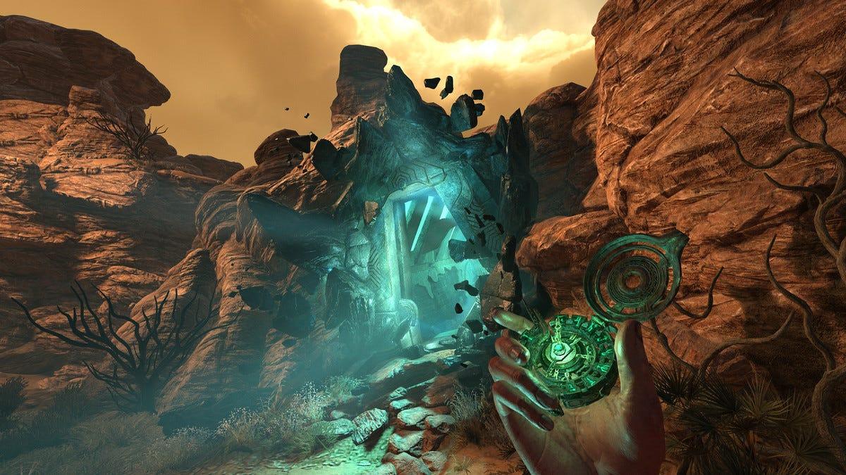 A glowing rift from Amnesia: Rebirth