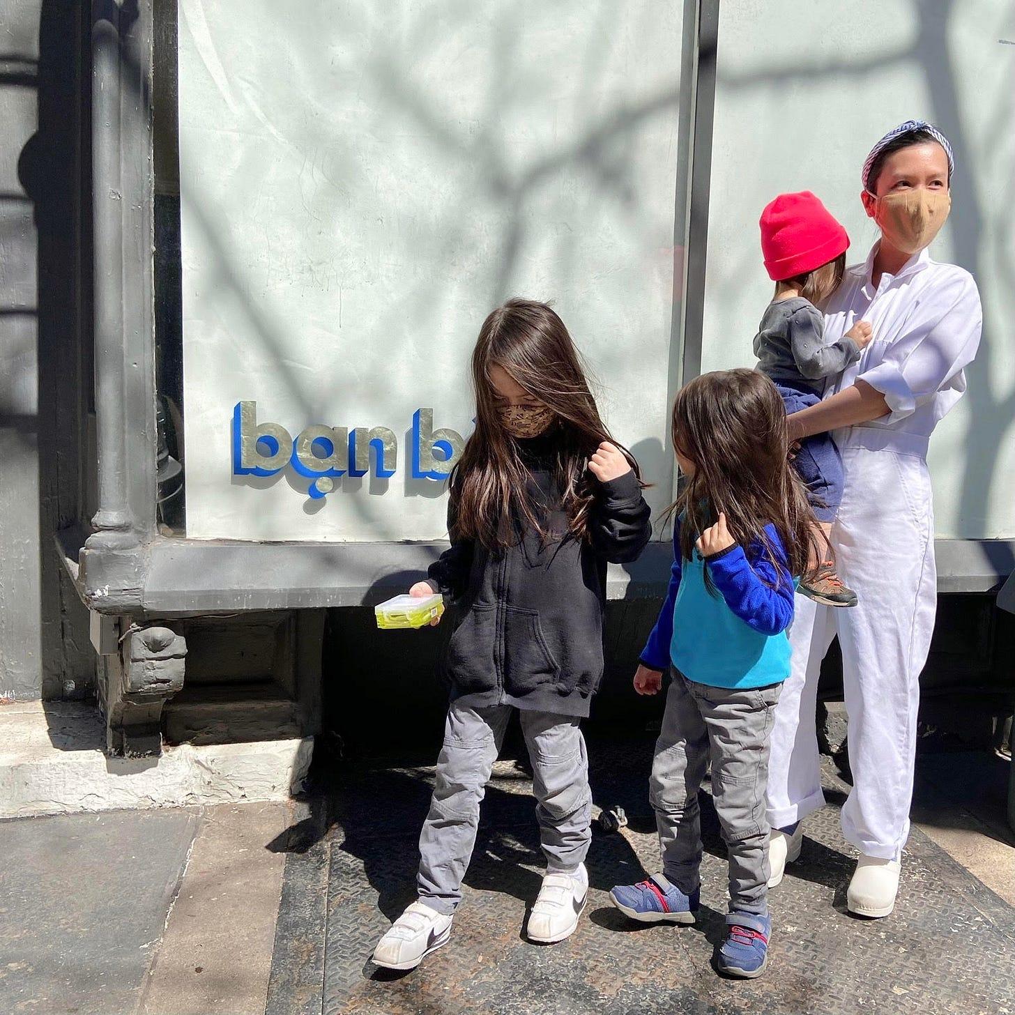Doris Hồ-Kane with her three kids