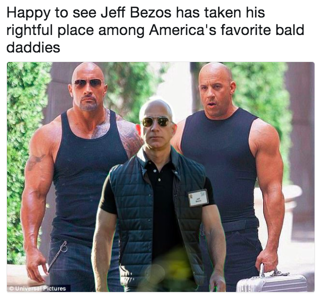 Happy to see Jeff Bezos has taken his rightful place among America's  favorite bald daddies   Swole Jeff Bezos   Know Your Meme