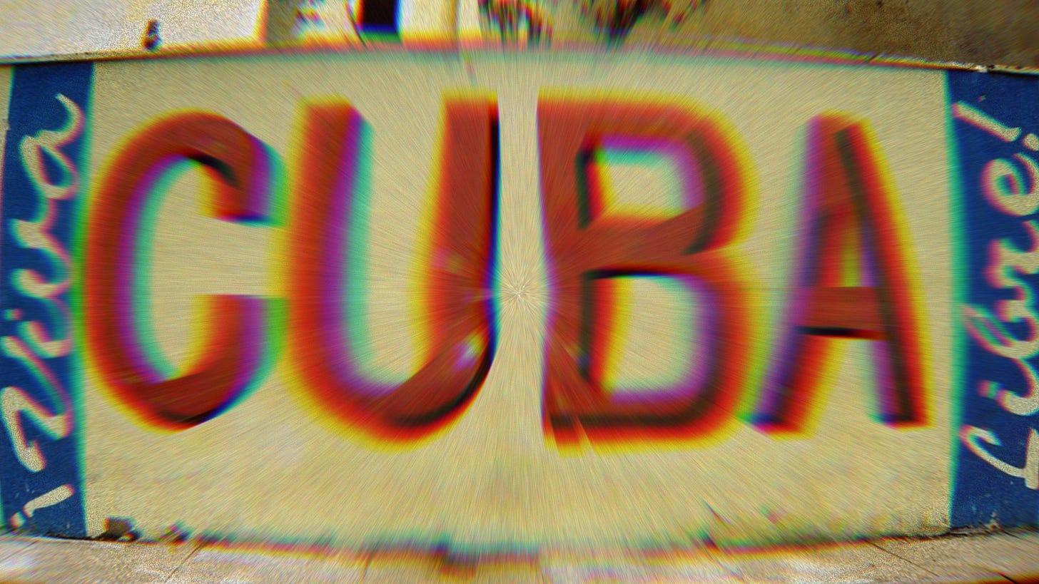 """Mural that says """"Viva Cuba Libre."""""""