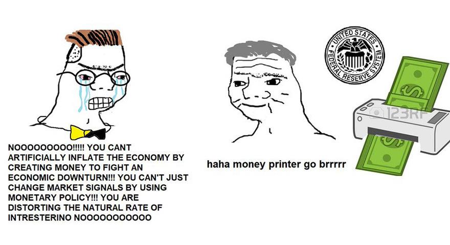 Wojak Go Brrr Memes - 'Haha Money Printer Go Brrr' - StayHipp