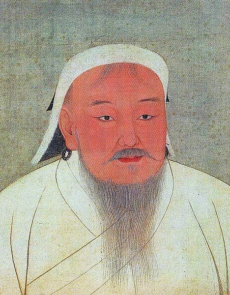 This image has an empty alt attribute; its file name is 468px-yuanemperoralbumgenghisportrait.jpg