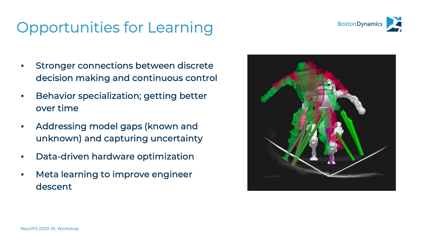 The company seems to have a healthy relationship with learning. Healthy enough to present two out of many slides on machine learning at a machine learning conference.