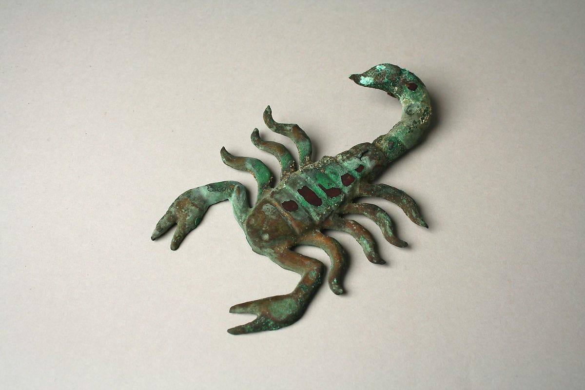 Scorpion, Gilded copper, Moche (Loma Negra)