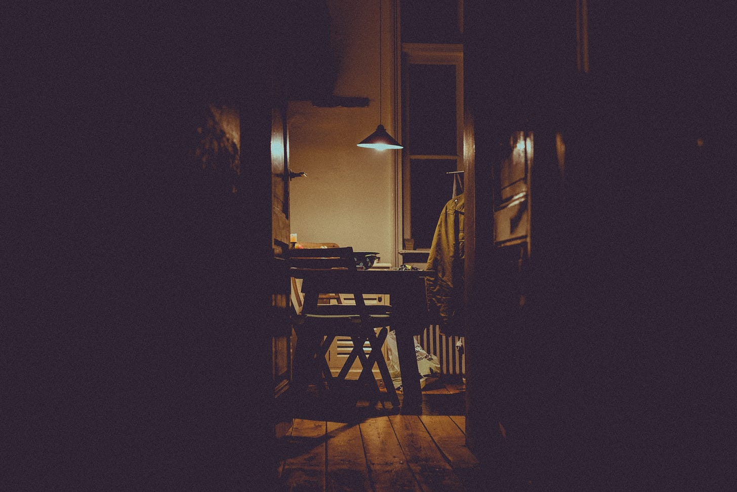 """Image of the kitchen late at night for article titled """"just make something"""" on the reflectionist"""