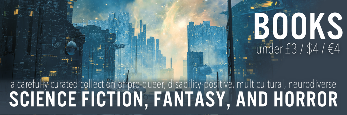 banner for giveaway 1 with a science fiction looking city in the background
