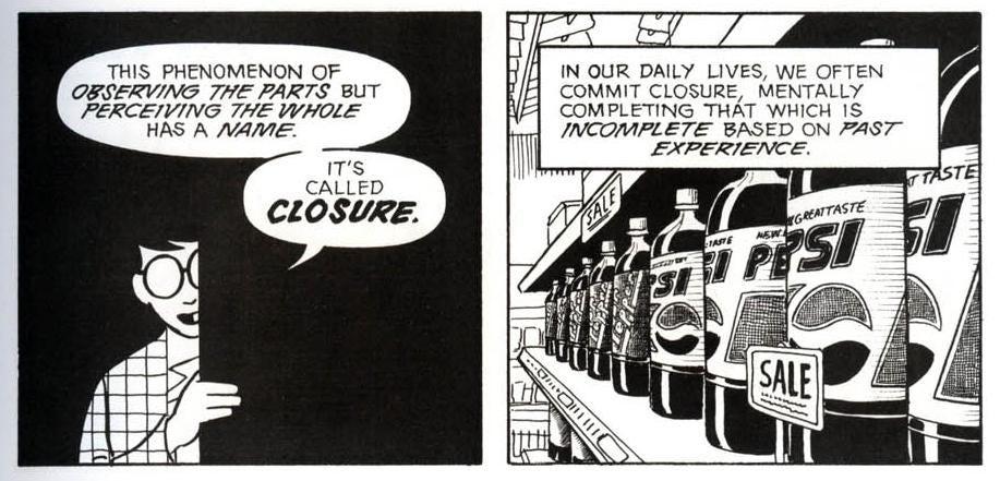 "Tyler Glaiel on Twitter: """"Closure"" was taken from ""Understanding Comics""… """