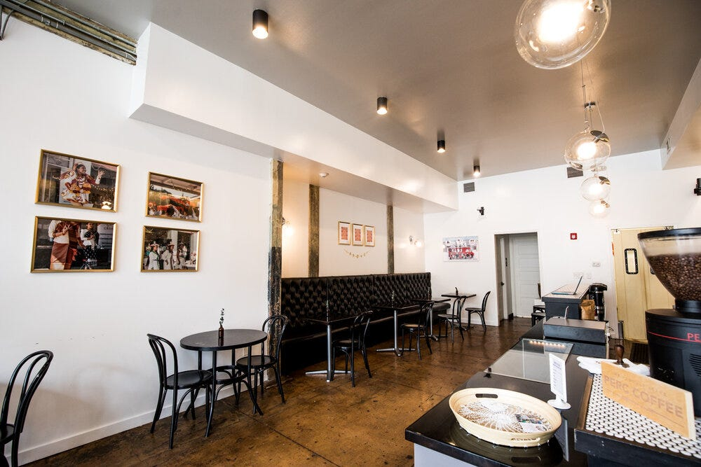 Interior wide view of Refuge Coffee Co. in Sweet Auburn