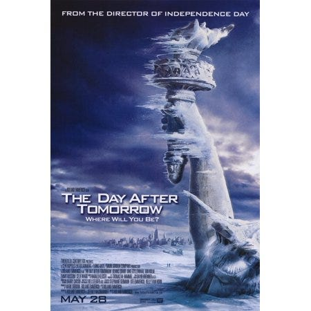 Image result for day after tomorrow movie poster