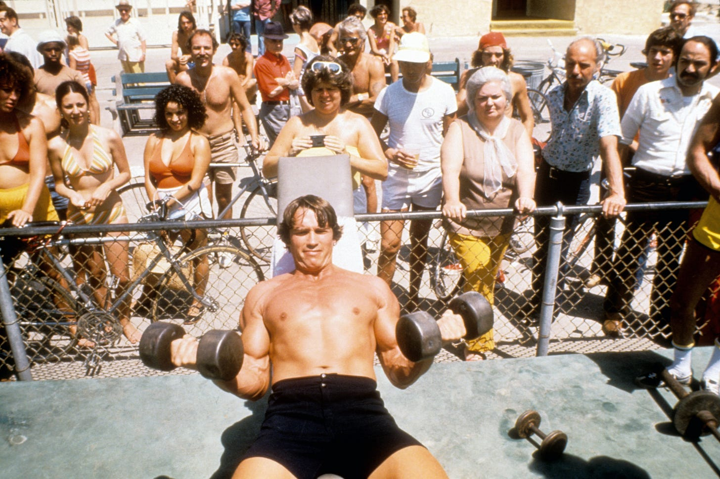 When Arnold Schwarzenegger Was the Newest Member of the Gym