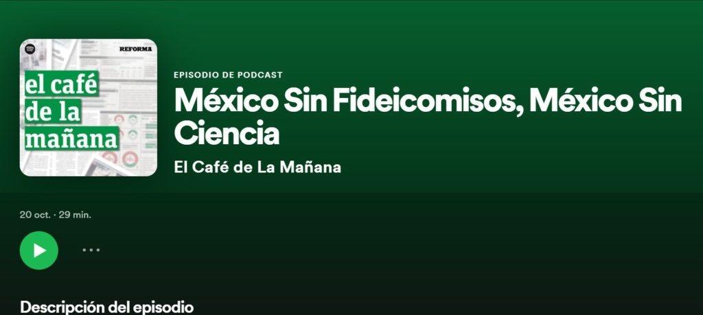 Reforma y Spotify presentan El Café de la Mañana