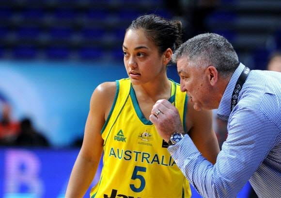 Leilani Mitchell in her recent Aussie Opals campaign where she played a valuable role. Photo Credit: Basketball Australia