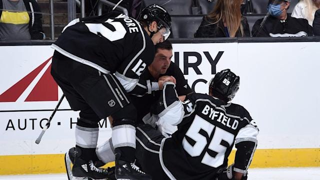 Kings' Byfield placed on injured reserve with broken ankle