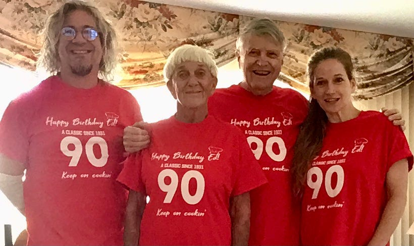 Ed Martin and family for 90th birthdat