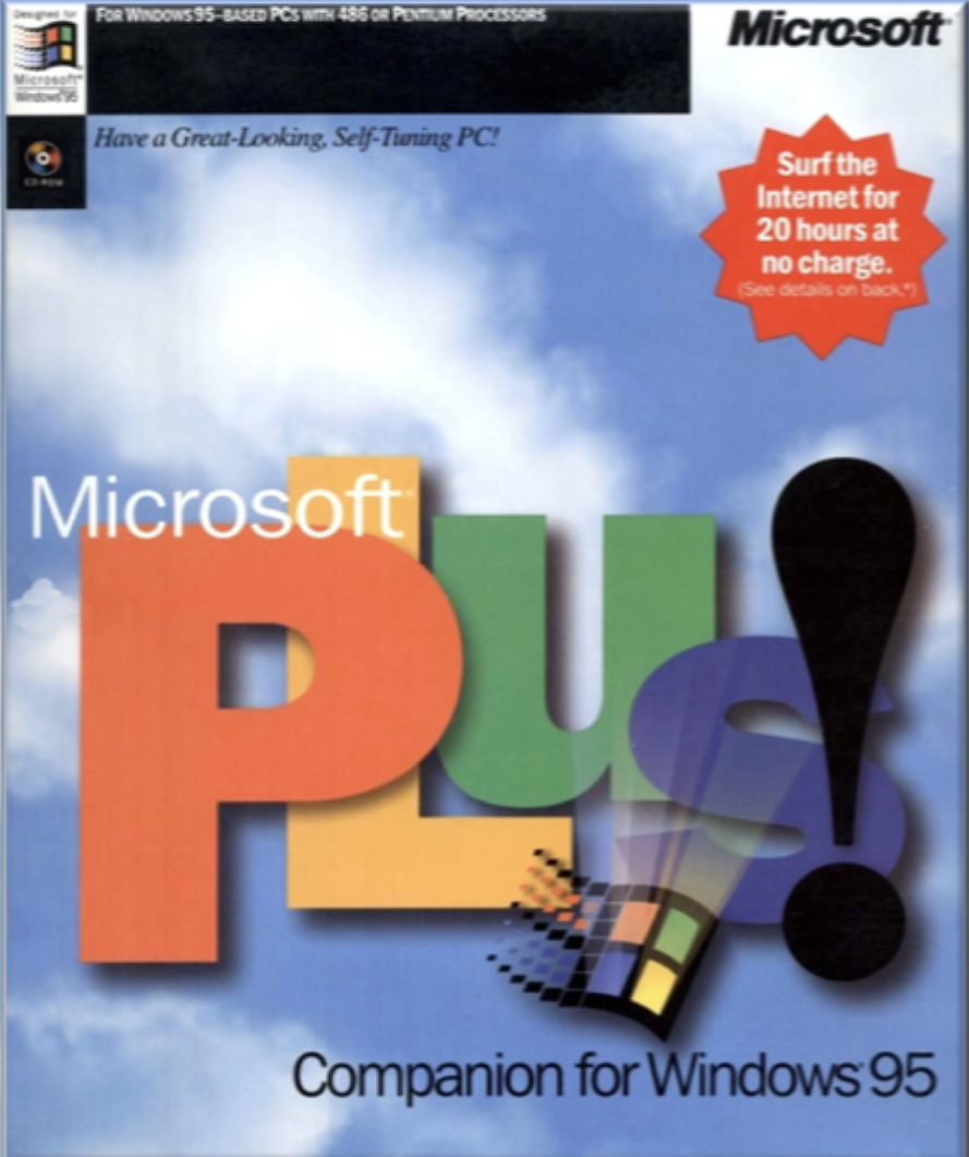 Software box, Microsoft Plus! pack