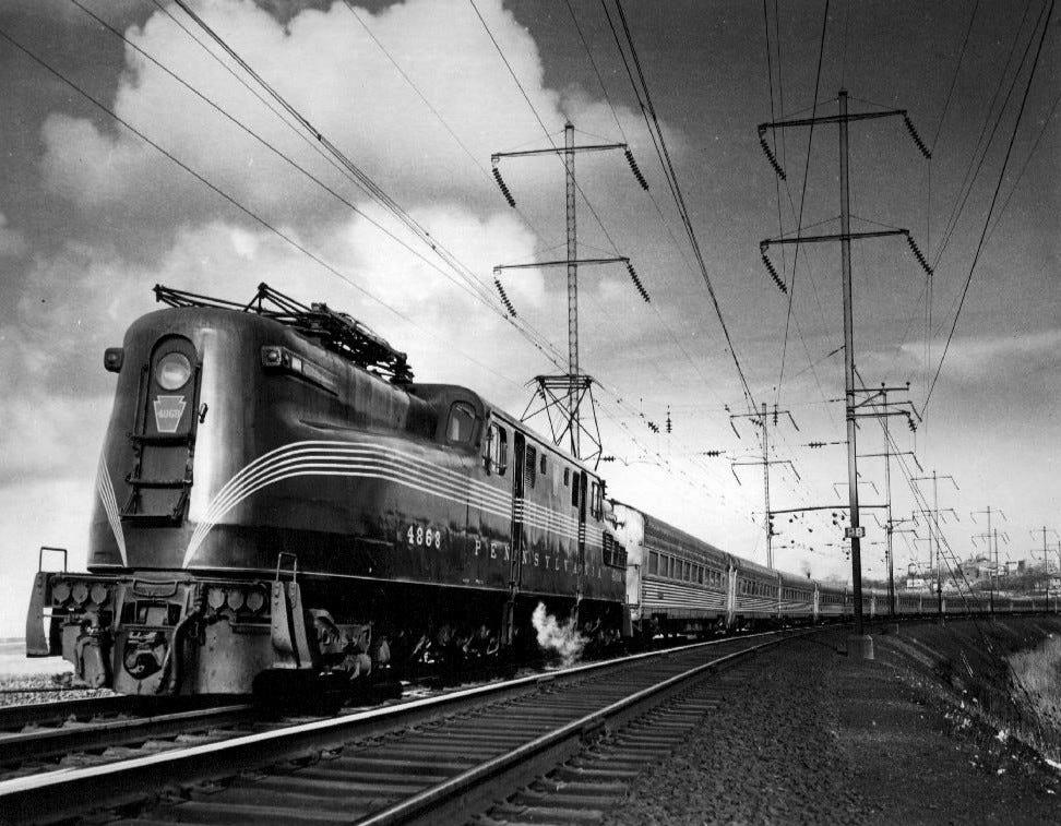Pennsylvania Railroad GG1 #4868 pulls The Congressional