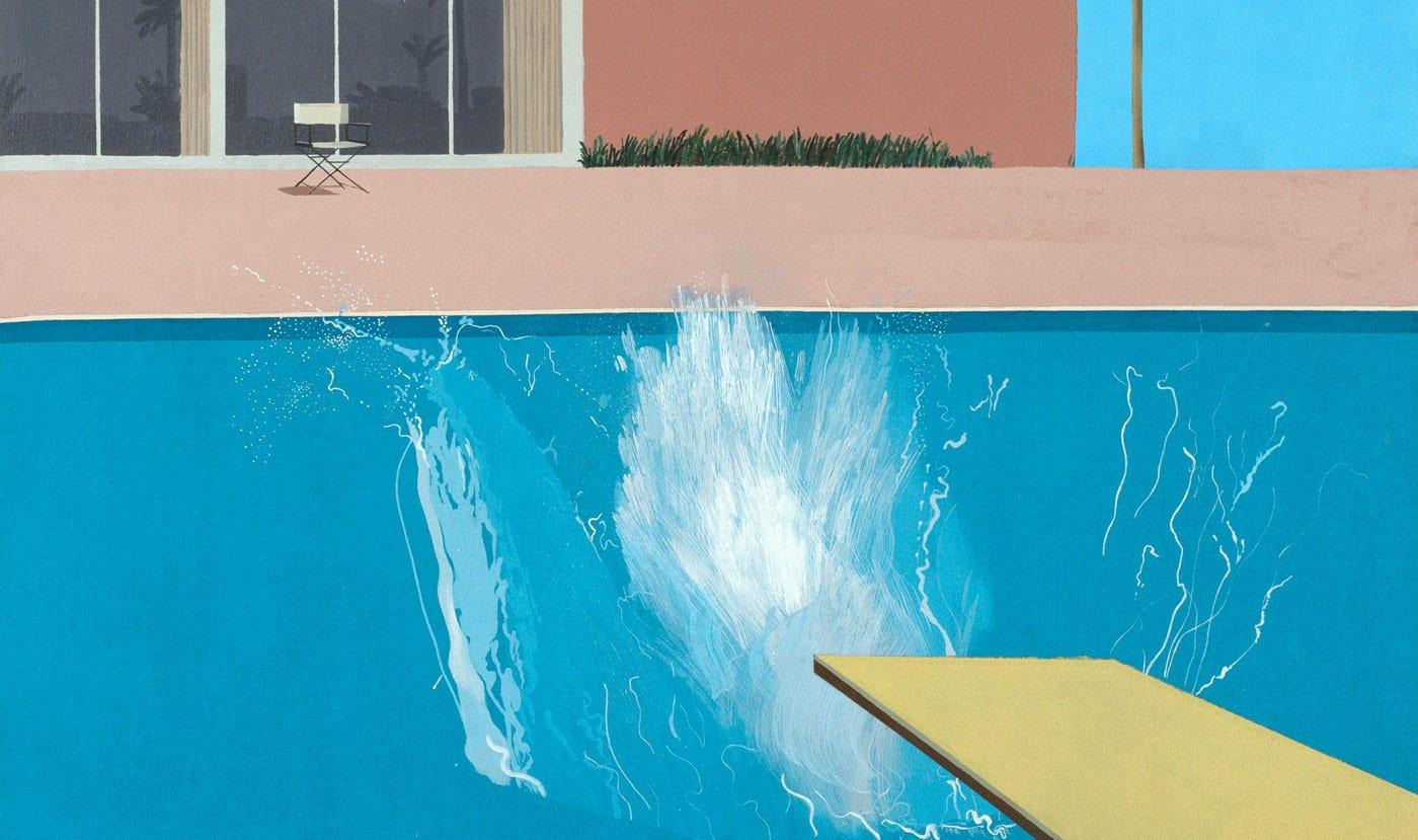 Image result for pool side hockney