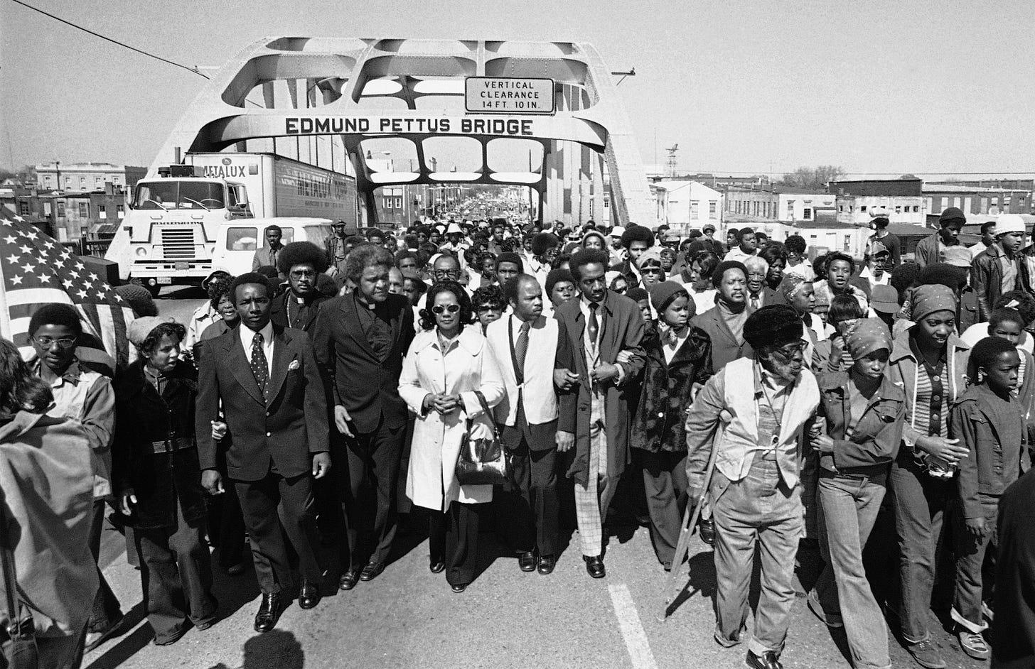 John Lewis Edmund Pettus Bridge civil rights march