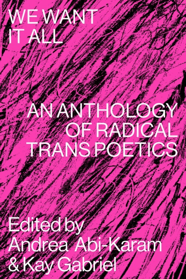This Anthology of Trans Poetics Channels a Spirit of Dissent