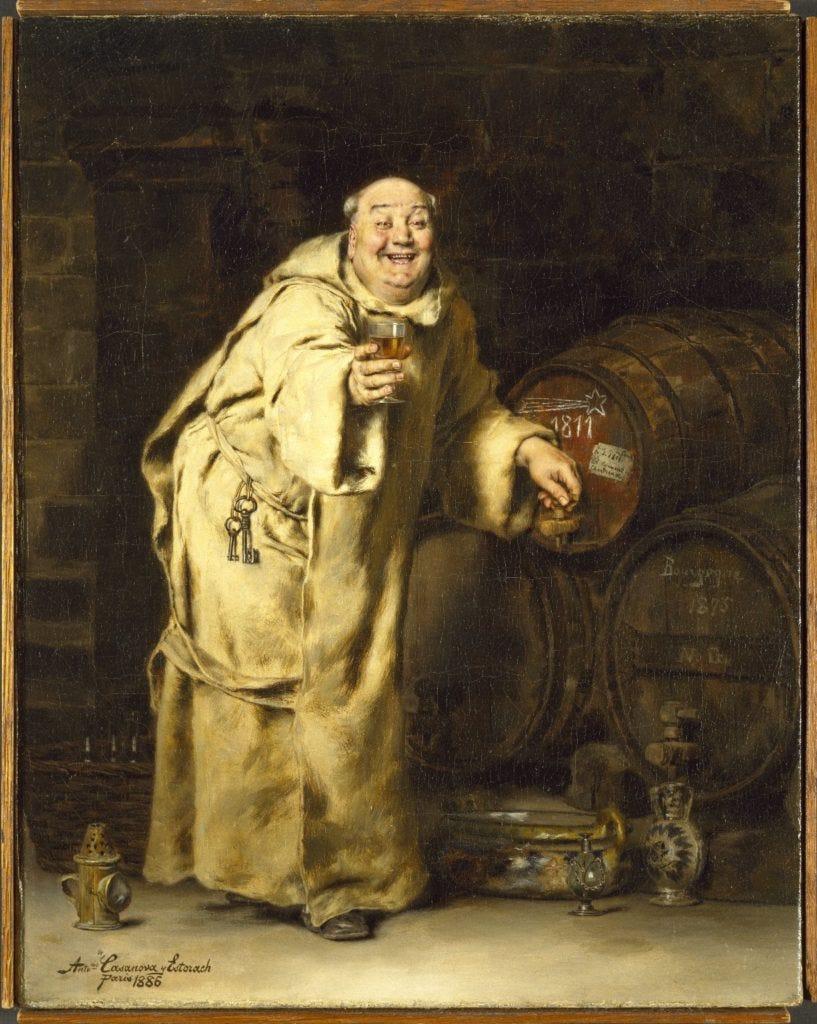 Antonio Casanova y Estorach, Monk Testing Wine (1886). Courtesy of the Brooklyn Museum.