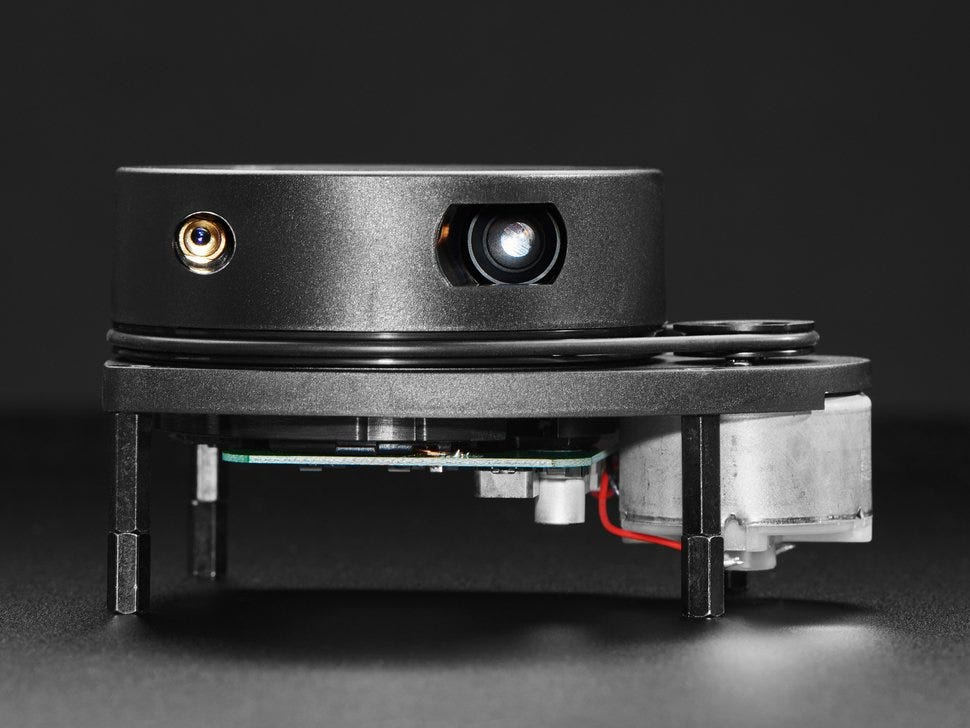 close side shot of the lamtec RPLIDAR A1 - 360 Laser Range Scanner