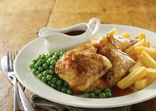 Half roast chicken - Picture of Brewers Fayre Castlewood, South Normanton -  Tripadvisor