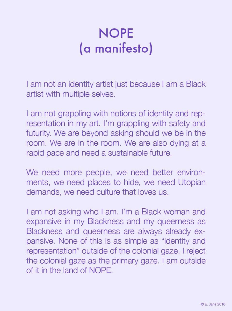 E. Jane is a digital artist featured in Glitch Feminism by Legacy Russell