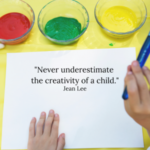 """Jean Lee quote: """"Never underestimate the creativity of a child."""""""