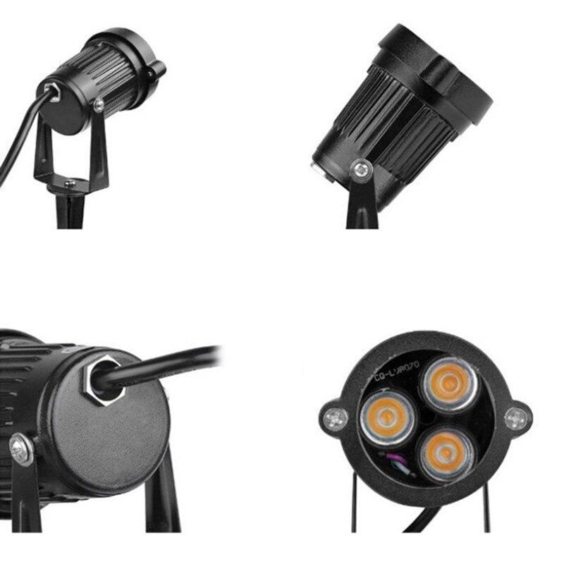 3x3W 9W LED Underground LED Lwan Lamp DC12V AC85-265V Garden Outdoor Lighting Wall Yard Path Pond Flood Light