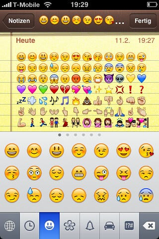 """A lot of random emojis. """"iPhone: Emoji Keyboard enabled"""" by schoschie is licensed under CC BY-SA 2.0"""