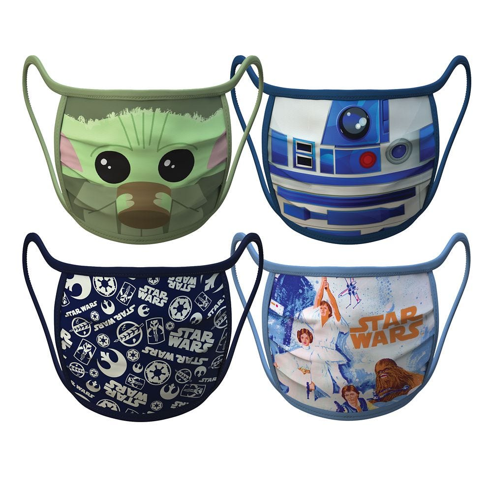 Small – Star Wars Cloth Face Masks 4-Pack Set – Pre-Order