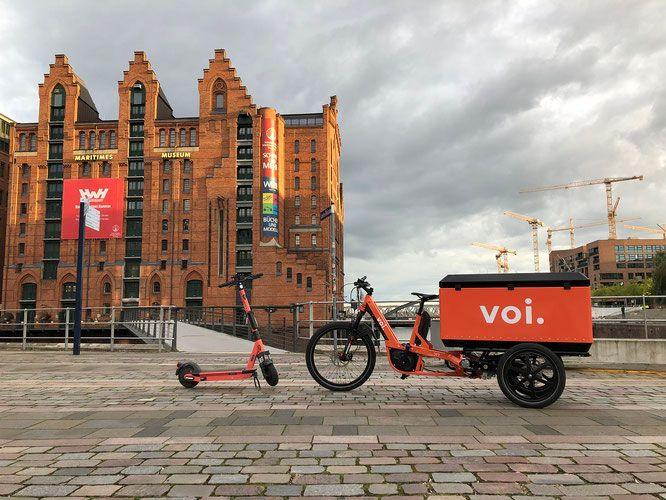 Voi: Sustainable e-scooter logistics - Voi is putting its first own e-vans and e-cargo bikes into operation