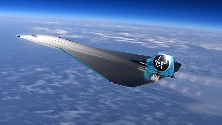 The delta wing design is similar to the iconic shape of Concorde. Pic: Virgin Galactic