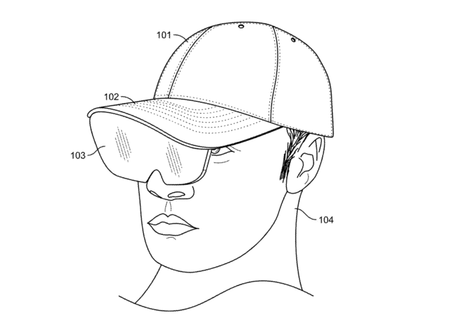 Facebook artificial reality hat illustration