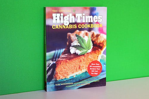 Cover of The Official High Times Cannabis Cookbook by Elise McDonough and the editors of High Times