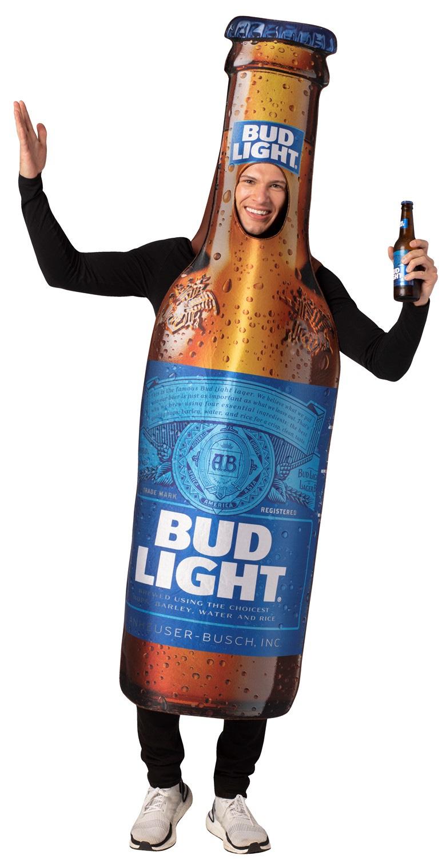 Bud Light Beer Bottle Costume Unisex Design fits Men Women 21+ of Age